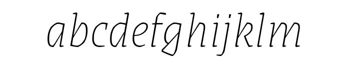Grenze 100italic Font LOWERCASE
