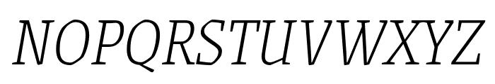 Grenze 200italic Font UPPERCASE