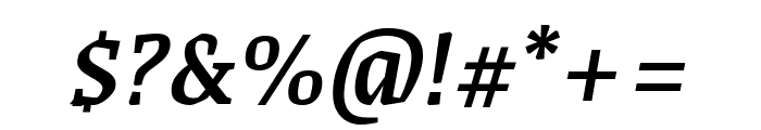 Grenze 500italic Font OTHER CHARS