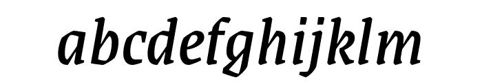 Grenze italic Font LOWERCASE