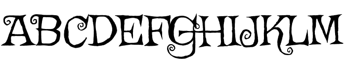 Griffy regular Font UPPERCASE