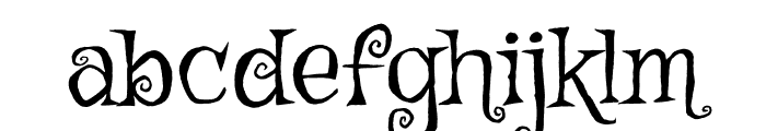 Griffy regular Font LOWERCASE