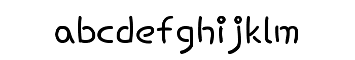 Hi Melody regular Font LOWERCASE