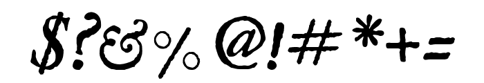 IM Fell English italic Font OTHER CHARS