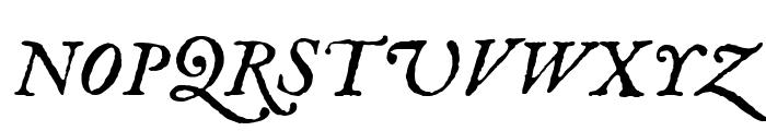 IM Fell English italic Font UPPERCASE