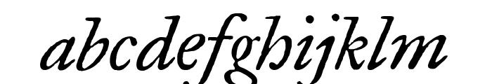 IM Fell Great Primer italic Font LOWERCASE