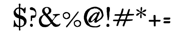 IM Fell Great Primer regular Font OTHER CHARS
