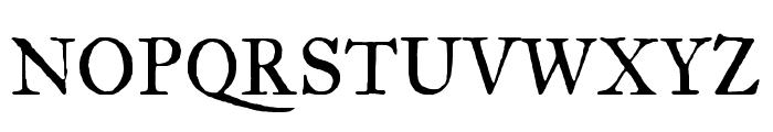 IM Fell Great Primer regular Font UPPERCASE