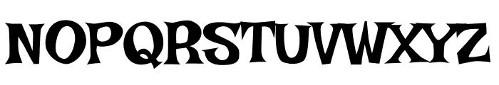 Irish Grover regular Font UPPERCASE