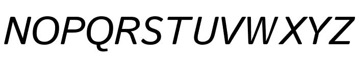 Istok Web 700italic Font UPPERCASE