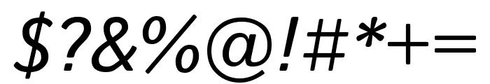 Istok Web italic Font OTHER CHARS