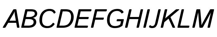 Istok Web italic Font UPPERCASE