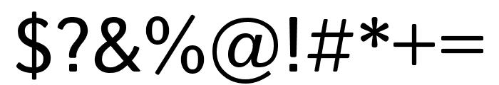 Istok Web regular Font OTHER CHARS