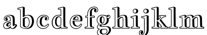 Jacques Francois Shadow regular Font LOWERCASE