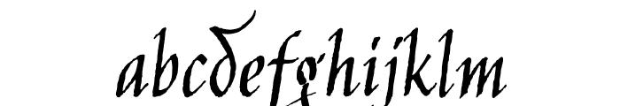 Jim Nightshade regular Font LOWERCASE