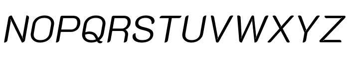 K2D 300italic Font UPPERCASE