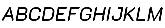 K2D italic Font UPPERCASE