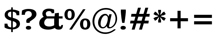 Kameron 700 Font OTHER CHARS