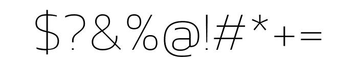 Kanit 100 Font OTHER CHARS