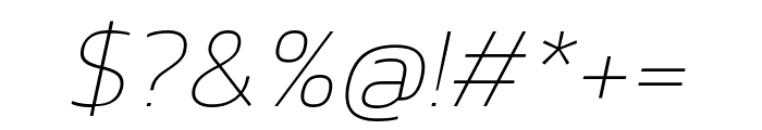 Kanit 100italic Font OTHER CHARS