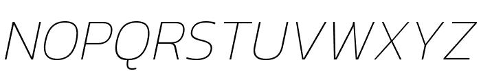 Kanit 100italic Font UPPERCASE