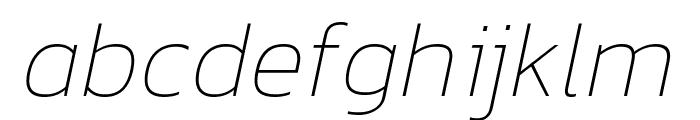 Kanit 100italic Font LOWERCASE