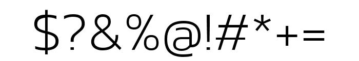 Kanit 200 Font OTHER CHARS