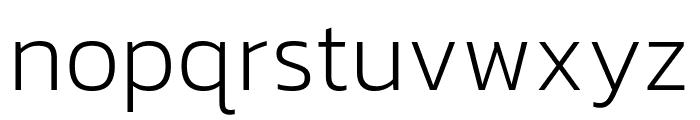 Kanit 200 Font LOWERCASE