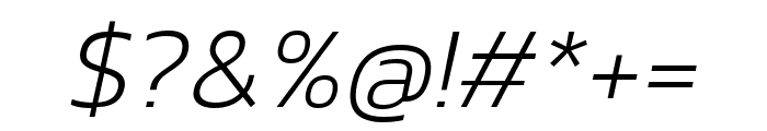 Kanit 200italic Font OTHER CHARS