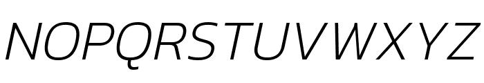 Kanit 200italic Font UPPERCASE