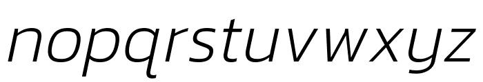 Kanit 200italic Font LOWERCASE
