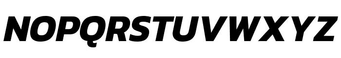 Kanit 700italic Font UPPERCASE