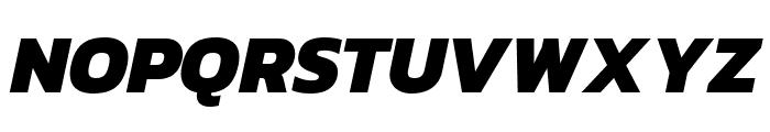 Kanit 800italic Font UPPERCASE