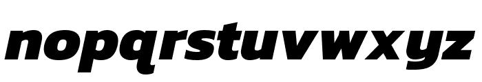 Kanit 800italic Font LOWERCASE