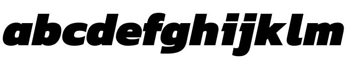 Kanit 900italic Font LOWERCASE
