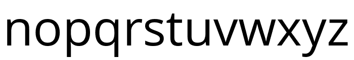 Khula regular Font LOWERCASE