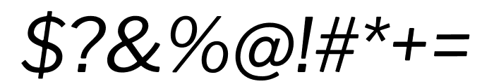 Libre Franklin italic Font OTHER CHARS