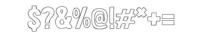 Londrina Outline regular Font OTHER CHARS