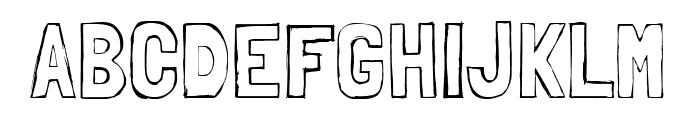 Londrina Sketch regular Font UPPERCASE