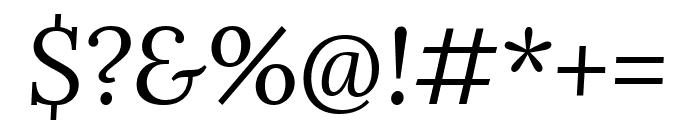 Lora italic Font OTHER CHARS