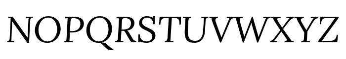 Lora italic Font UPPERCASE