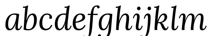 Lora italic Font LOWERCASE