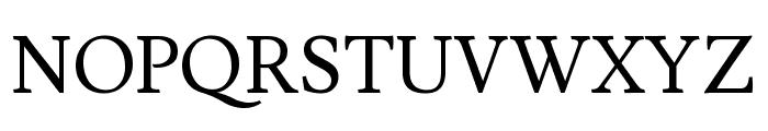 Lusitana regular Font UPPERCASE