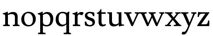 Lusitana regular Font LOWERCASE