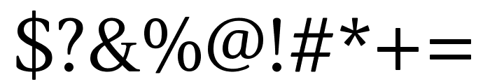 Lustria regular Font OTHER CHARS