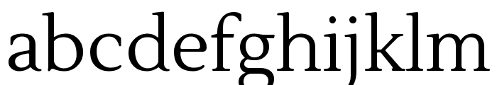 Lustria regular Font LOWERCASE