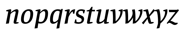Manuale 500italic Font LOWERCASE