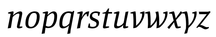 Manuale italic Font LOWERCASE