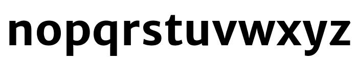 Merriweather Sans 700 Font LOWERCASE