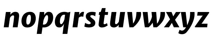 Merriweather Sans 800italic Font LOWERCASE